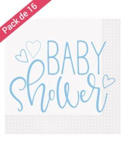 Serviettes papier Baby Shower garçon