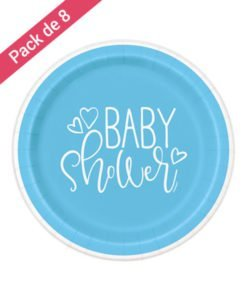 Grandes Assiettes Bleues Baby Shower