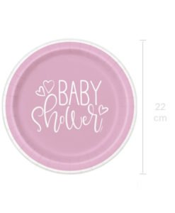 Grandes Assiettes Roses Baby Shower