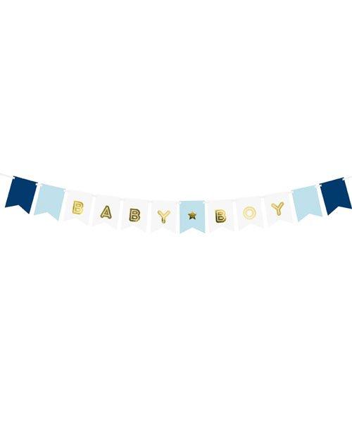 Banderole BABY BOY pour décoration