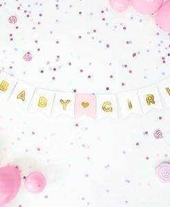 Banderole BABY GIRL pour décoration