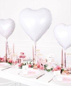 Ballon Coeur Alu Blanc
