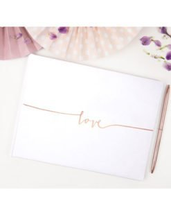 Livre d'Or LOVE Rose Gold