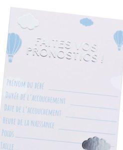 Carte Pronostic Baby Shower Garçon