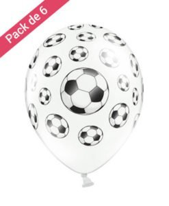 6 Ballons Theme Football