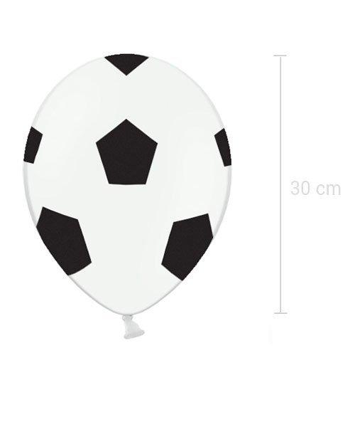 Ballons Blancs et Damier Noir Anniversaire Football
