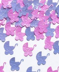 Confettis Poussette Baby Shower Fille
