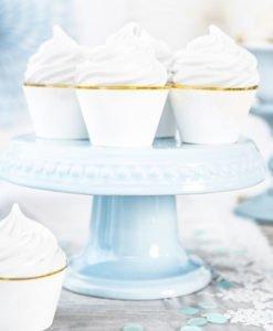 Habillage Cupcake Blanc et Or