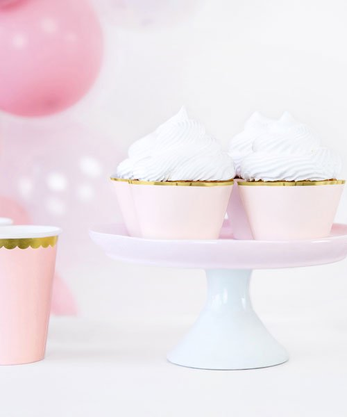 Habillage Cupcake Rose et Or