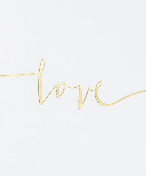 Livre d'or Love Couleur Or