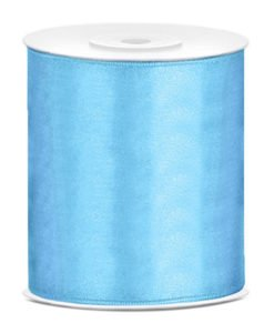 Ruban Bleu Satin XXL 10 cm