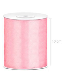 Ruban Rose Satin XXL 10 cm