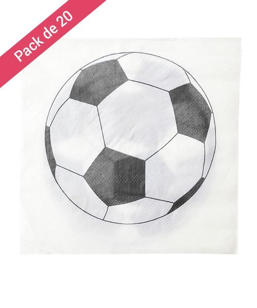 Serviettes Blanches Football