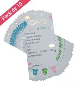 Carte Pronostics Baby Shower Mixte