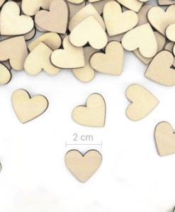 Confettis Coeur Bois