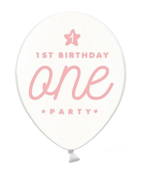 Ballon Anniversaire One pour Fille