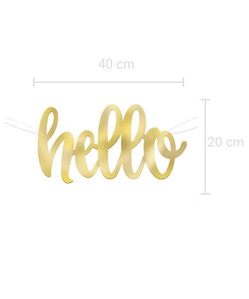 Banderole Lettre Hello Baby