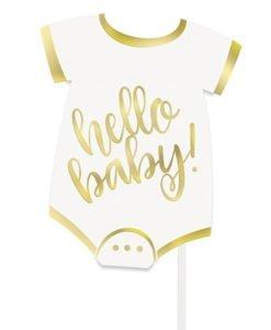 Photobooth Hello Baby Blanc et Or