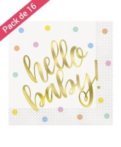 Serviettes Table Hello Baby