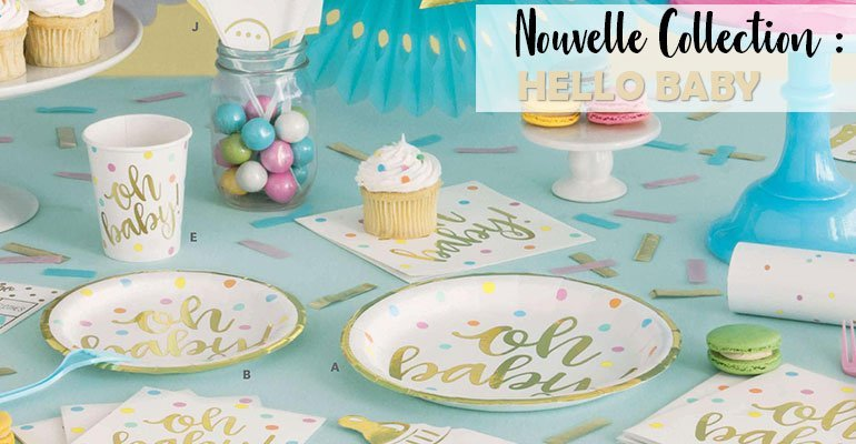 Collection Hello Baby pour Baby Shower