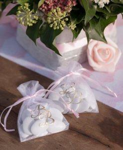 Sachet Organza Cadeau Baby Shower Fille