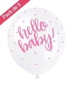 Ballons Hello Baby Rose