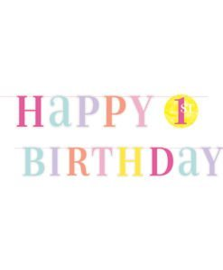 Guirlande Bleue Happy Birthday 1 an Fille