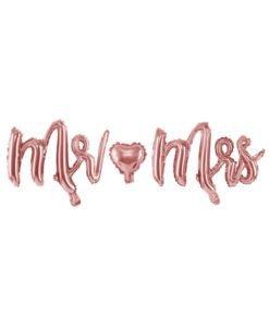 Ballons Lettres Mr Mrs Rose Gold