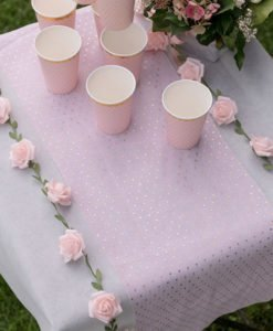 Chemin de Table Rose et Or