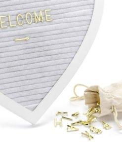 Letter Board Coeur Blanc