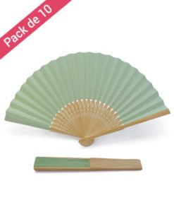 Eventail Papier Vert