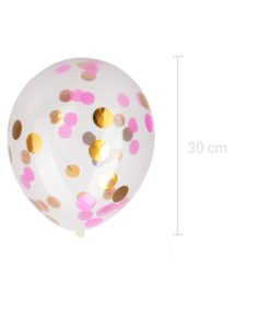 Ballon Confettis Or et Rose
