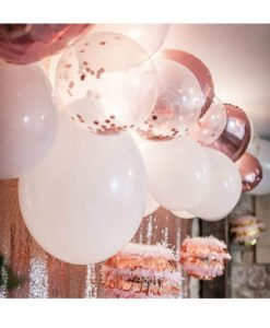 Ballon Confettis Rose Gold