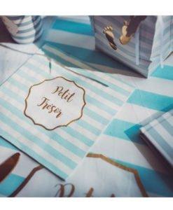 Serviettes Papier Bleues Petit Trésor