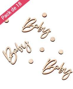 Confettis Baby en Bois