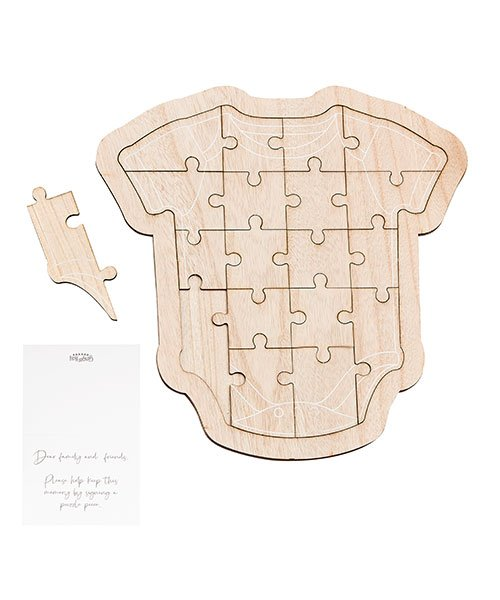 Livre d'Or Body Puzzle Baby Shower
