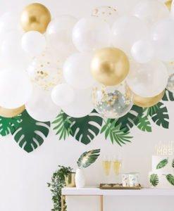 Guirlande Ballons Blancs et Or