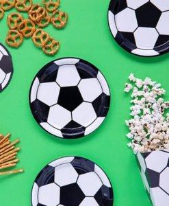 assiettes ballon de foot anniversaire