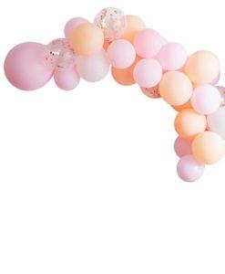 Arche Ballon Peche et Rose