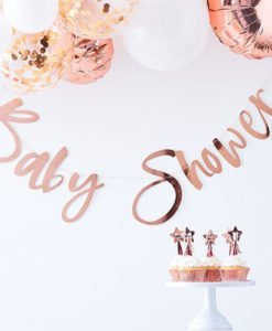 Banderole Lettre Rose Gold Baby Shower