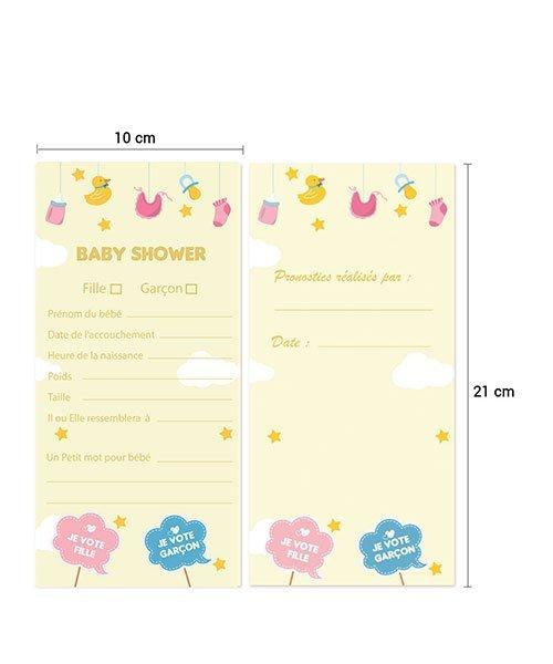 Jeu pour Baby Shower - 30 cartes