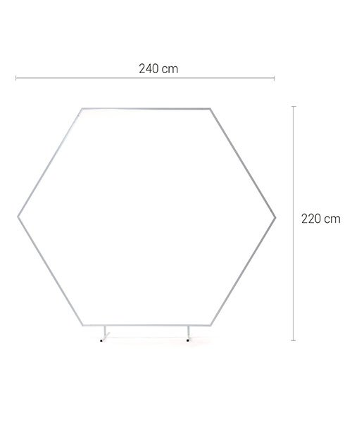 Arche Hexagonale Blanche