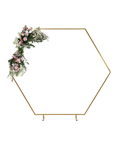 Arche Hexagonale Doree