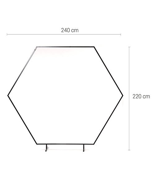 Arche Hexagonale Noire