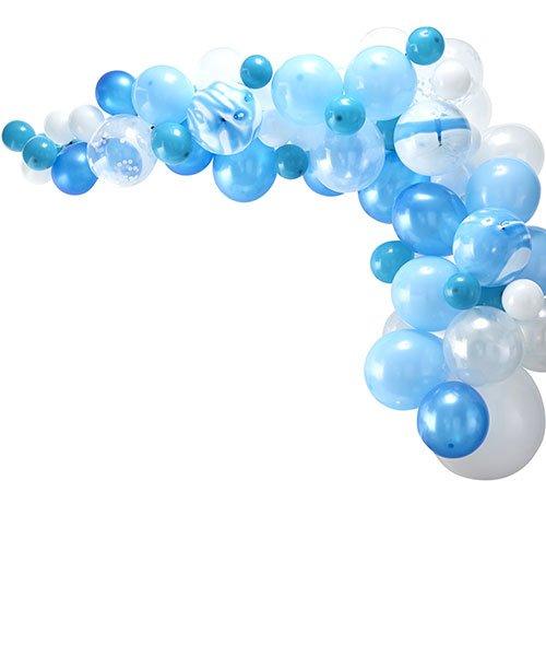 Arche Ballons Bleu et Blancs