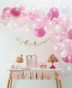 Arche Ballons Rose et Blancs