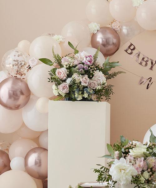 Arche Ballon Blanc Rose Gold