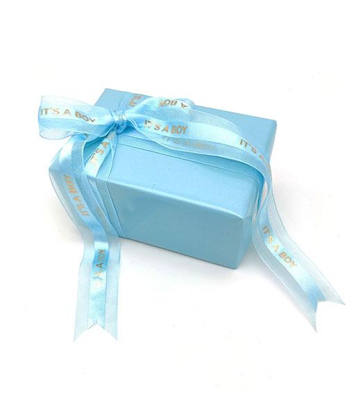 Ruban Bleu Organza Satin It's a Boy